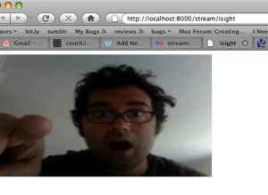 Streaming Your iSight Camera to the Web with the Video Tag